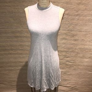 High neck T-shirt dress
